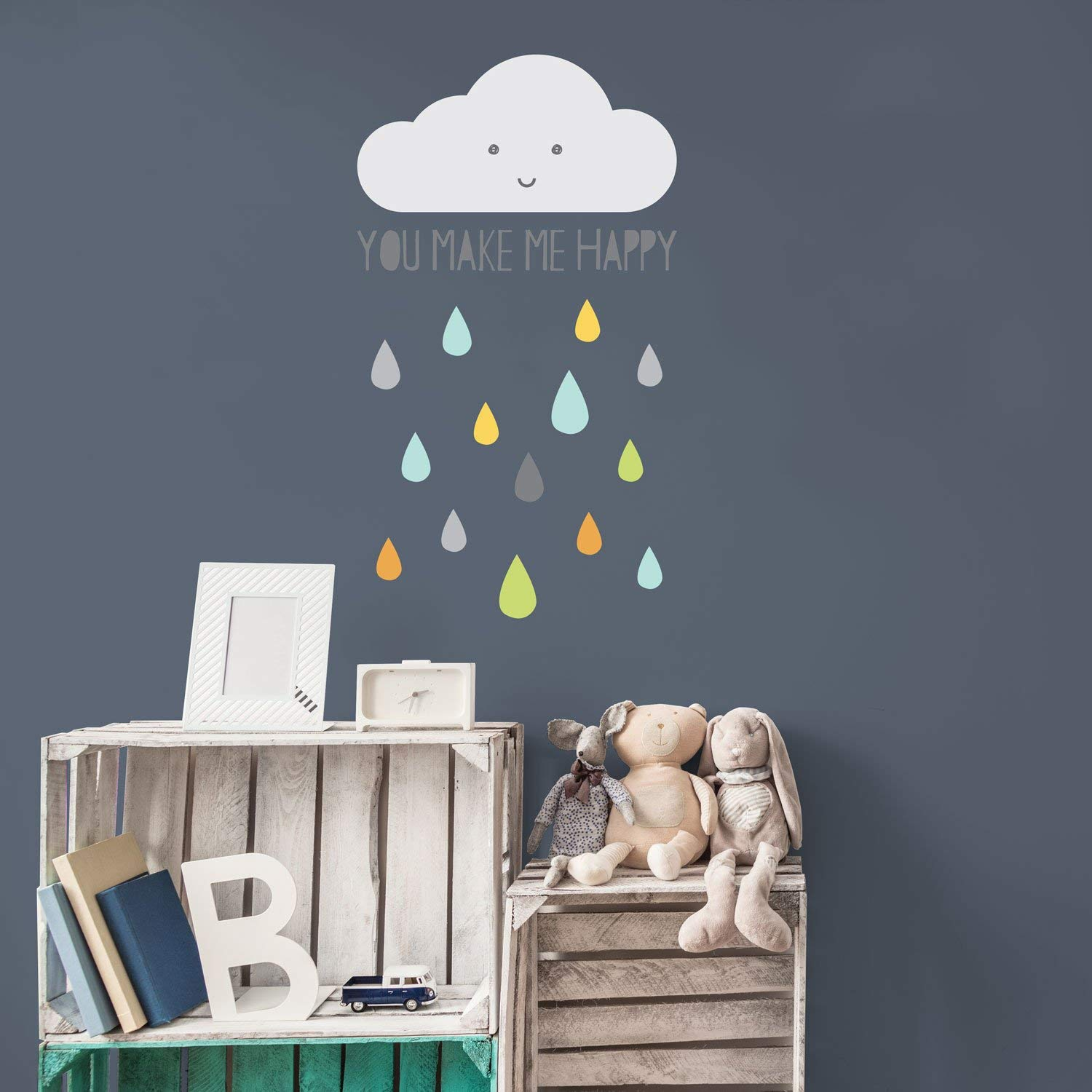 Wall cloud graphic for the kids room